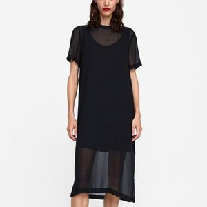 Zara Semi Sheer Dress